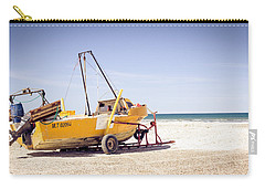 Carry-all Pouch featuring the photograph Boat And The Beach by Silvia Bruno