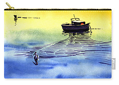 Boat And The Seagull Carry-all Pouch by Anil Nene