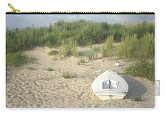 Boat At Chicks Beach Va Beach Chesapeake Bay Carry-all Pouch by Suzanne Powers