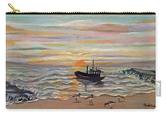Boat At Dawn Carry-all Pouch