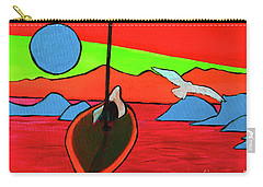 Boat, Bird And Moon Carry-all Pouch