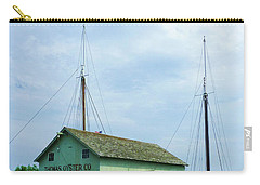 Carry-all Pouch featuring the photograph Boat By Oyster Shack by Susan Savad