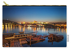 Boat Dock Near St. Vitus Cathedral, Prague, Czech Republic. Carry-all Pouch