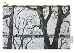 Carry-all Pouch featuring the painting Boat Landing by Jack G Brauer