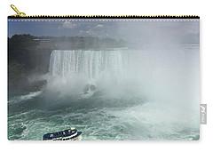 Boat Near Niagara Falls Carry-all Pouch