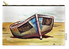 Boat On Beach Carry-all Pouch