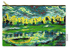Boat On Lake Carry-all Pouch