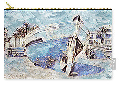 Boat On Sand Of A Beach Shore Carry-all Pouch