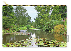 Boat On The Lake Carry-all Pouch by Gill Billington