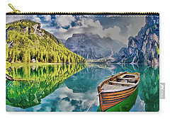 Boat On The Lake Carry-all Pouch by Maciek Froncisz