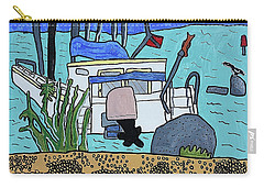 Boat On The Shore Carry-all Pouch by Artists With Autism Inc