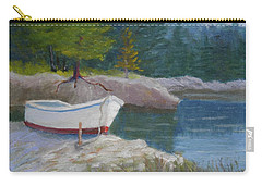 Boat On Tidal River Carry-all Pouch