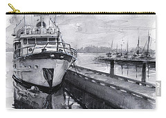 Boat On Waterfront Marina Kirkland Washington Carry-all Pouch