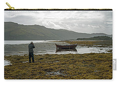 Boat Seaweed And Photographer In Isle Of Skye, Uk Carry-all Pouch