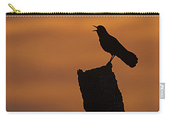 Boat-tailed Grackle At Sunset Carry-all Pouch