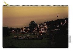 Carry-all Pouch featuring the photograph Boathouse Row From The Lagoon Before Dawn by Bill Cannon