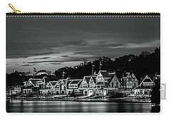 Boathouse Row Philadelphia Pa Night Black And White Carry-all Pouch