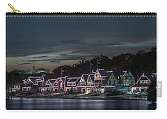 Boathouse Row Philly Pa Night Carry-all Pouch by Terry DeLuco