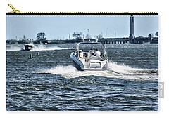 Boating Off Of Jones Beach Carry-all Pouch by Mikki Cucuzzo
