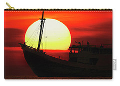 Boatman Enjoying Sunset Carry-all Pouch