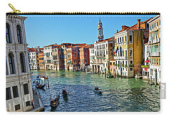 Boats And Ships In Venice Carry-all Pouch