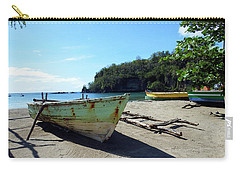 Carry-all Pouch featuring the photograph Boats At La Soufriere, St. Lucia by Kurt Van Wagner