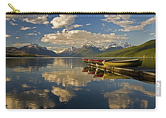 Boats At Lake Mcdonald Carry-all Pouch