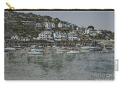 Carry-all Pouch featuring the photograph Boats At Looe by Brian Roscorla
