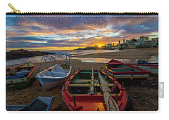 Boats At Sunset, Bahia, Brazil Carry-all Pouch