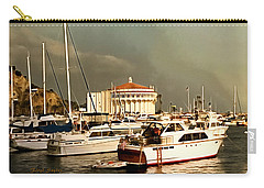 Carry-all Pouch featuring the photograph Boats Catalina Island California by Floyd Snyder