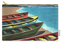 Boats In A Row Carry-all Pouch by Kathleen Sartoris