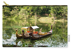 Boats In Lake Ankor Thom Carry-all Pouch by James Gay