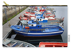 Carry-all Pouch featuring the photograph Boats In Norway by Joan  Minchak