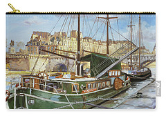 Boats In Paris, Pont Neuf Carry-all Pouch
