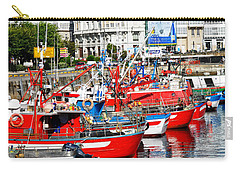 Boats In The Harbor - La Coruna Carry-all Pouch by Mary Machare