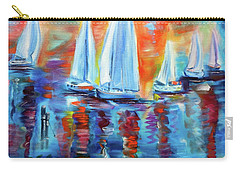 Boats In The Sunset Carry-all Pouch