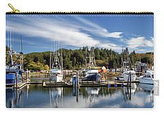 Carry-all Pouch featuring the photograph Boats In Winchester Bay by James Eddy