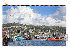 Carry-all Pouch featuring the photograph Boats In Yaquina Bay by James Eddy