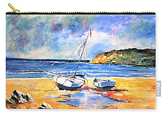 Boats On The Beach Carry-all Pouch