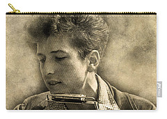 Carry-all Pouch featuring the digital art Bob Dylan by Anthony Murphy