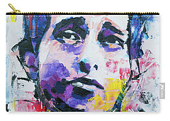 Bob Dylan Portrait Carry-all Pouch by Richard Day
