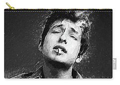 Carry-all Pouch featuring the digital art Bob Dylan by Taylan Apukovska