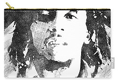 Bob Marley Bw Portrait Carry-all Pouch