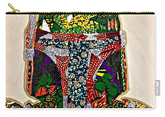 Carry-all Pouch featuring the tapestry - textile Boba Fett Star Wars Afrofuturist Collection by Apanaki Temitayo M