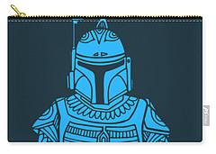 Boba Fett - Star Wars Art, Blue Carry-all Pouch