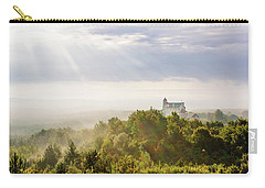 Carry-all Pouch featuring the photograph Bobolice Castle In The Morning Haze by Dmytro Korol