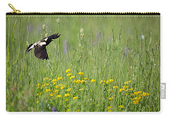 Carry-all Pouch featuring the photograph Bobolink In Paradise by Bill Wakeley