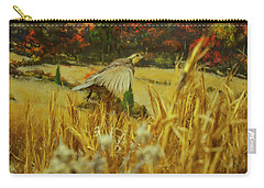 Carry-all Pouch featuring the digital art Bobwhite In Flight by Chris Flees