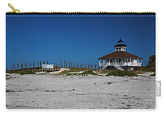 Carry-all Pouch featuring the photograph Boca Grande Lighthouse Ix by Michiale Schneider