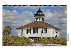 Boca Grande Lighthouse View Three Carry-all Pouch by Rosalie Scanlon